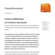 Presseinfo Tischler NRW